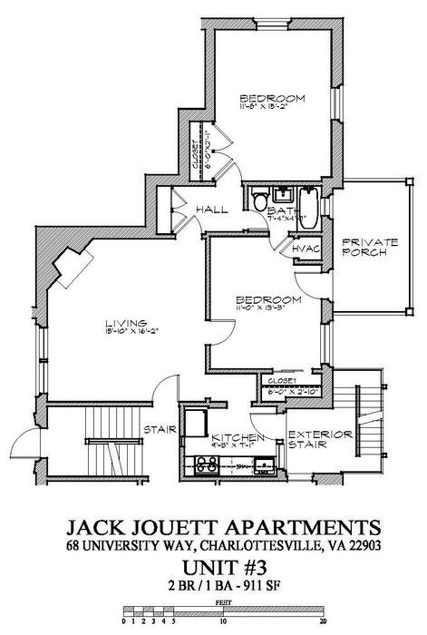 Charlottesville va the jack jouett apartments 68 university way 2 bd 1 bth 2 bdrm 1 bath for One bedroom apartments in charlottesville va